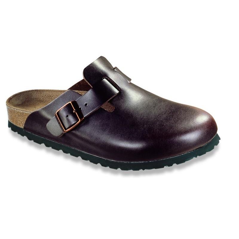 birkenstock boston leather clogs soft footbed black white brown blue ebay. Black Bedroom Furniture Sets. Home Design Ideas