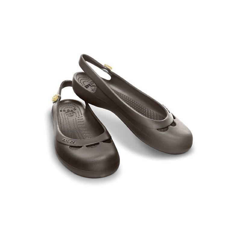 f534adebe4b760 Crocs-Jayna-Women-Damen-Sandalen-Ballerina-Schwarz-Espresso-