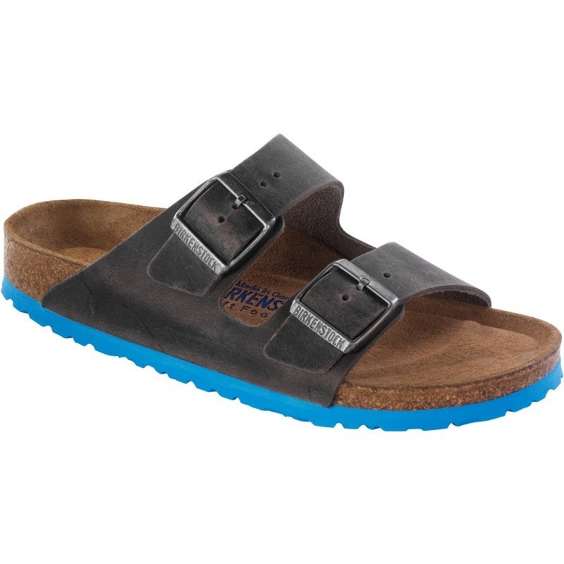 birkenstock antique brown leather arizona slide sandal